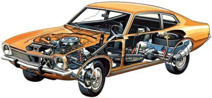 Ford Maverick cutaway