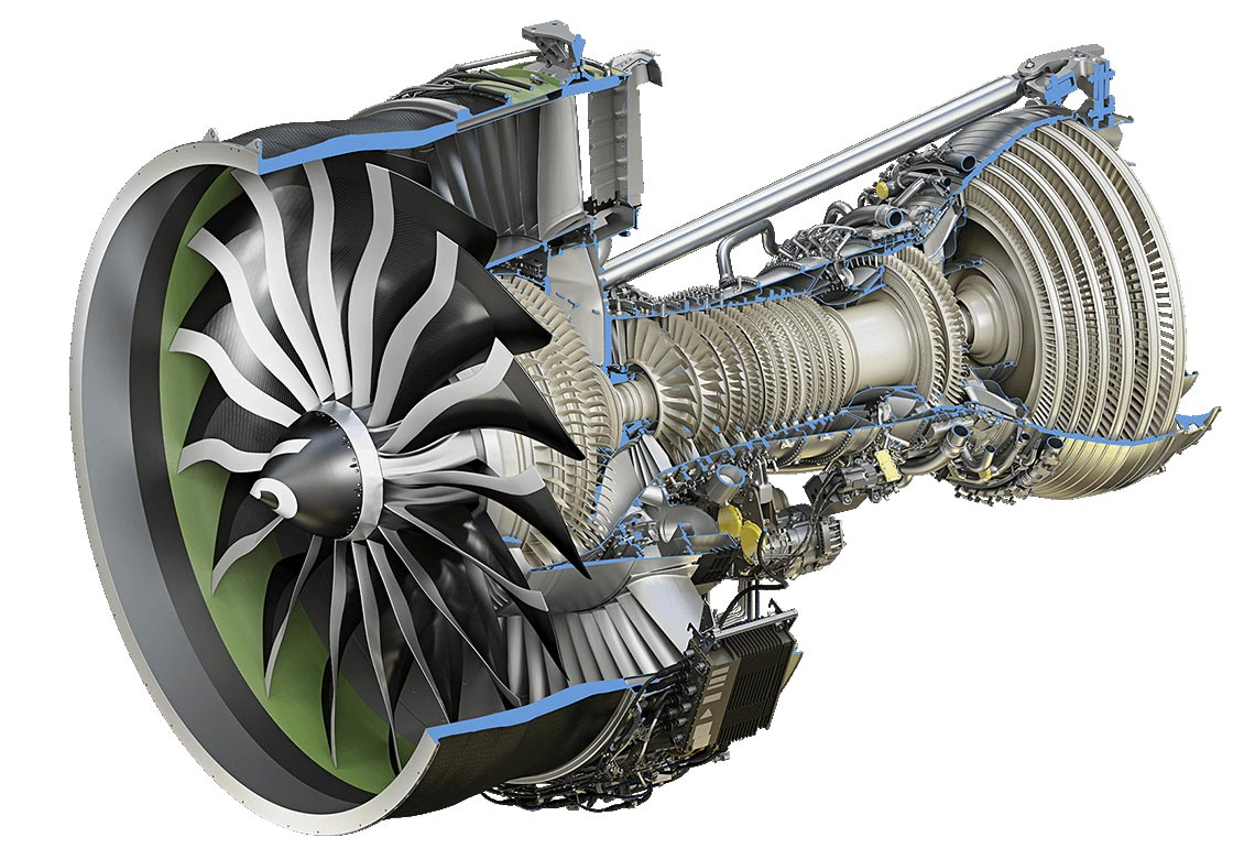 General Electric GE9X cutaway