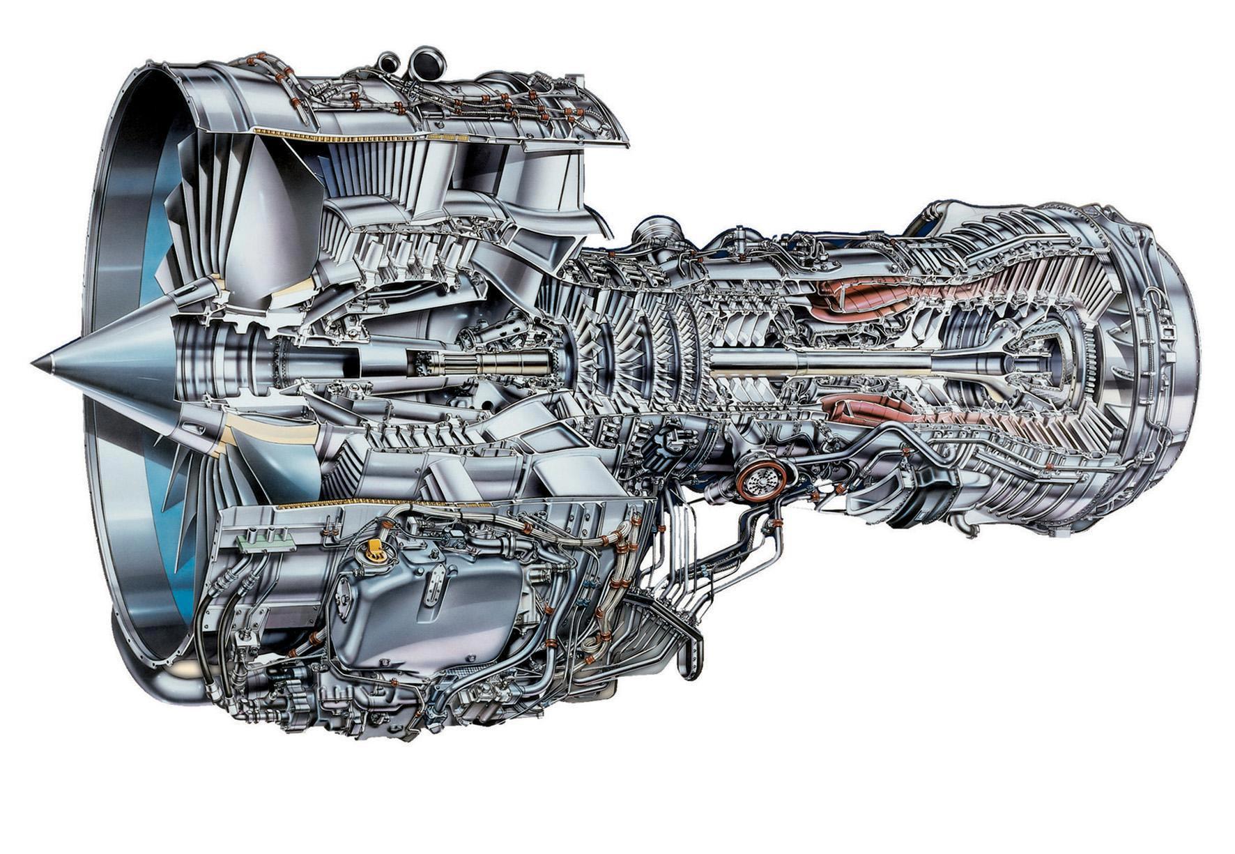 IAE V2500 cutaway