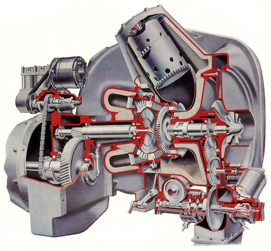 Leyland Gas Turbine Engine cutaway