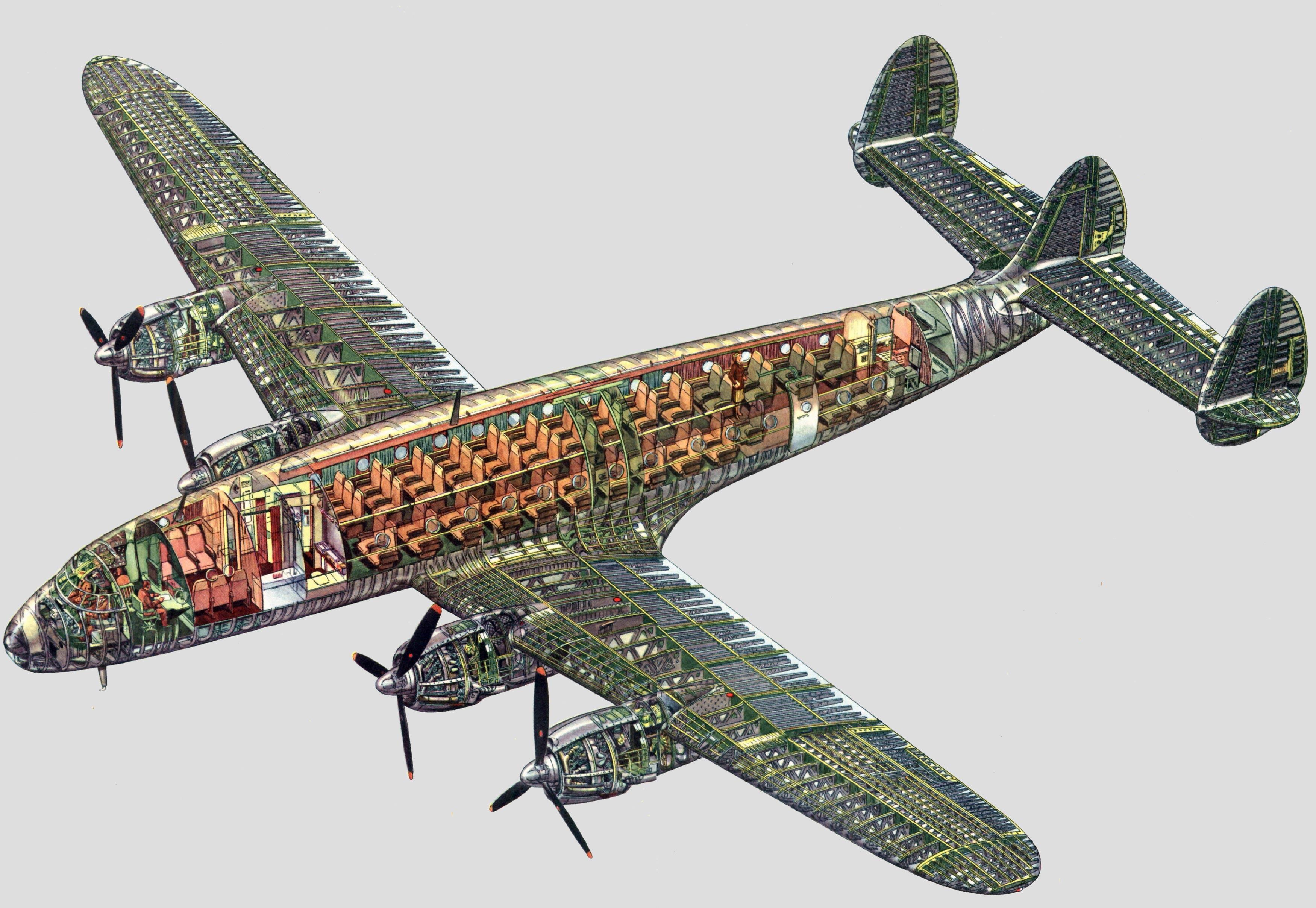 Lockheed C-69 Constellation cutaway