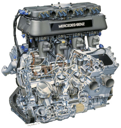 Mercedes Penske engine