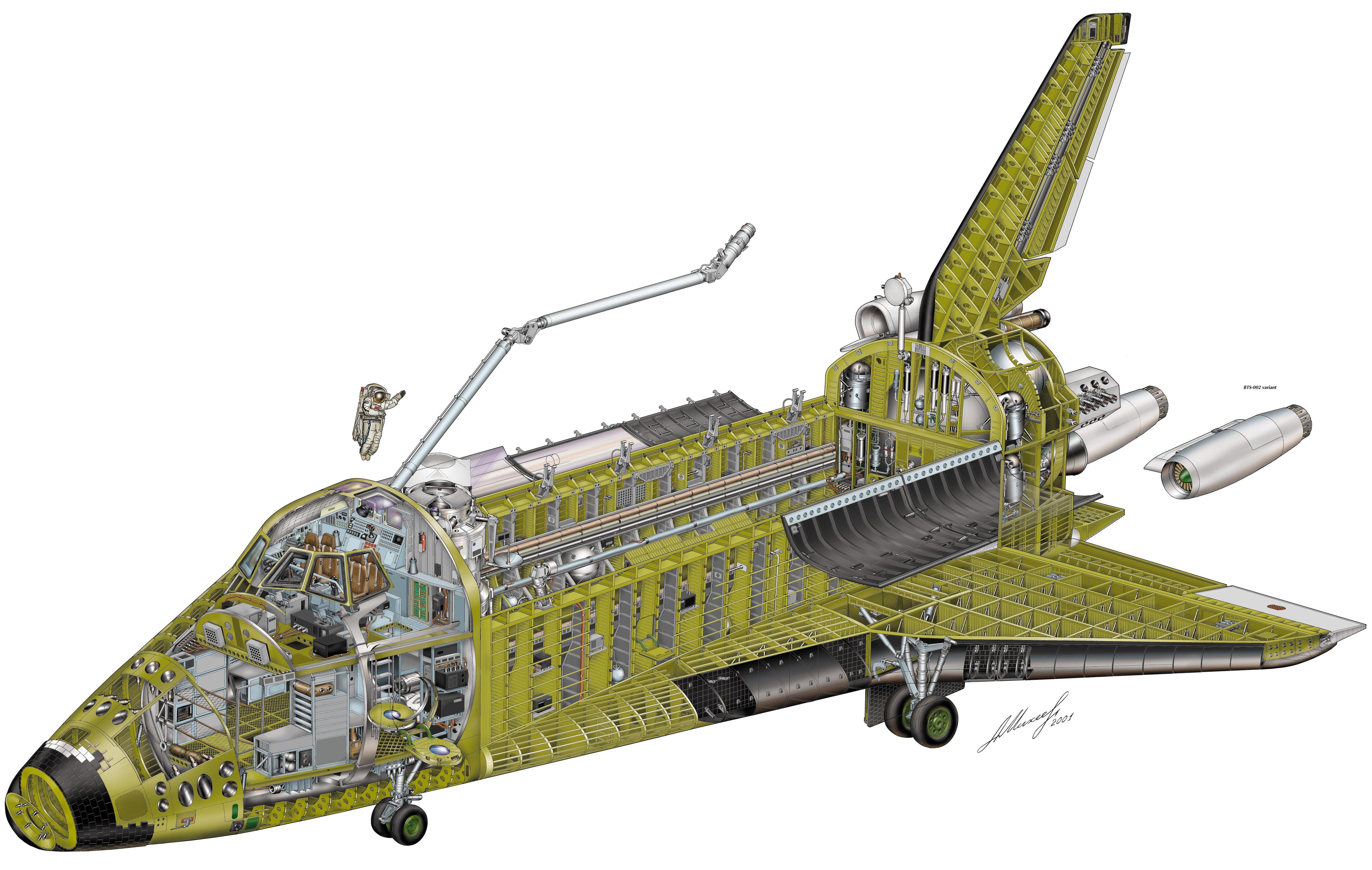 Space Shuttle Buran cutaway