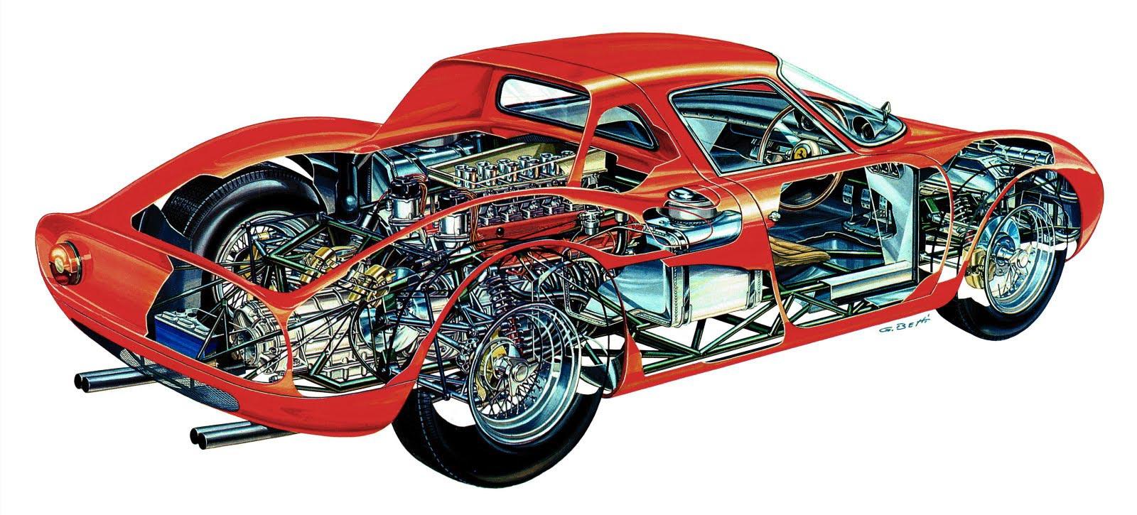 Ferrari 250 LM cutaway