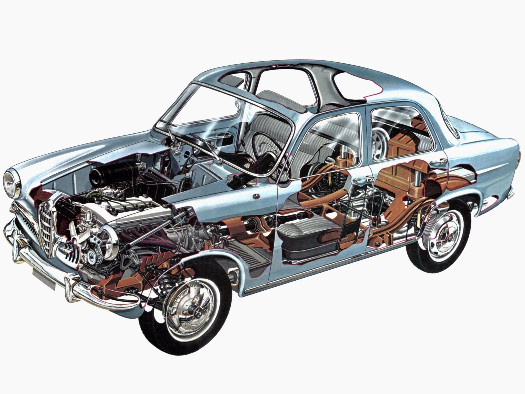 Alfa Romeo Giulietta cutaway