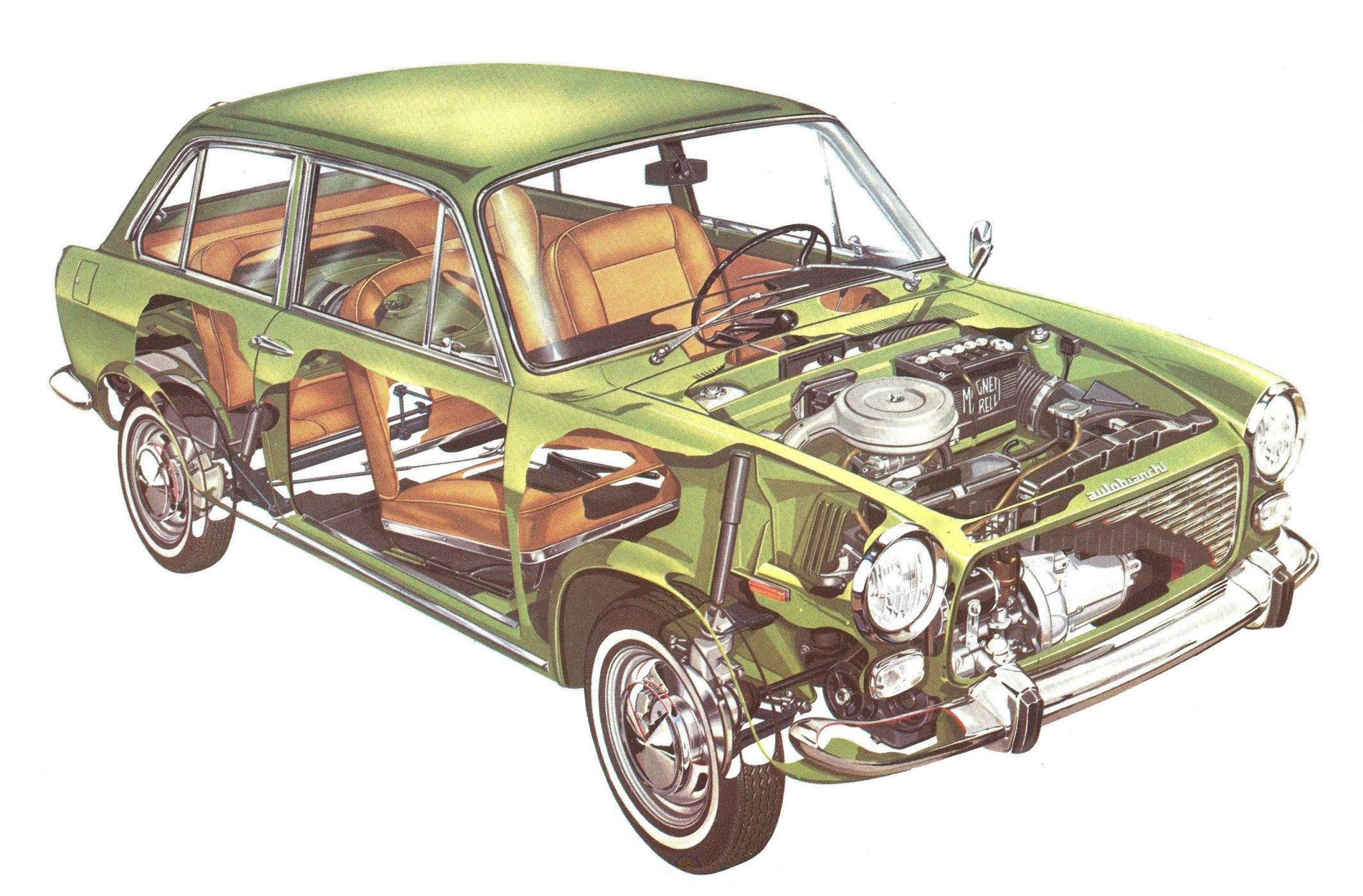 Autobianchi Primula cutaway