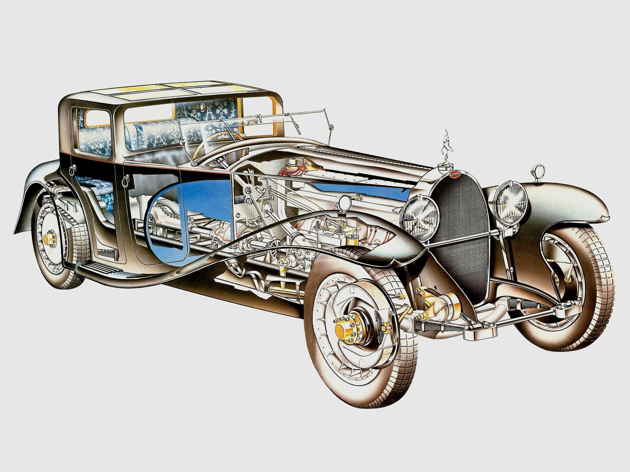 Bugatti Royale cutaway