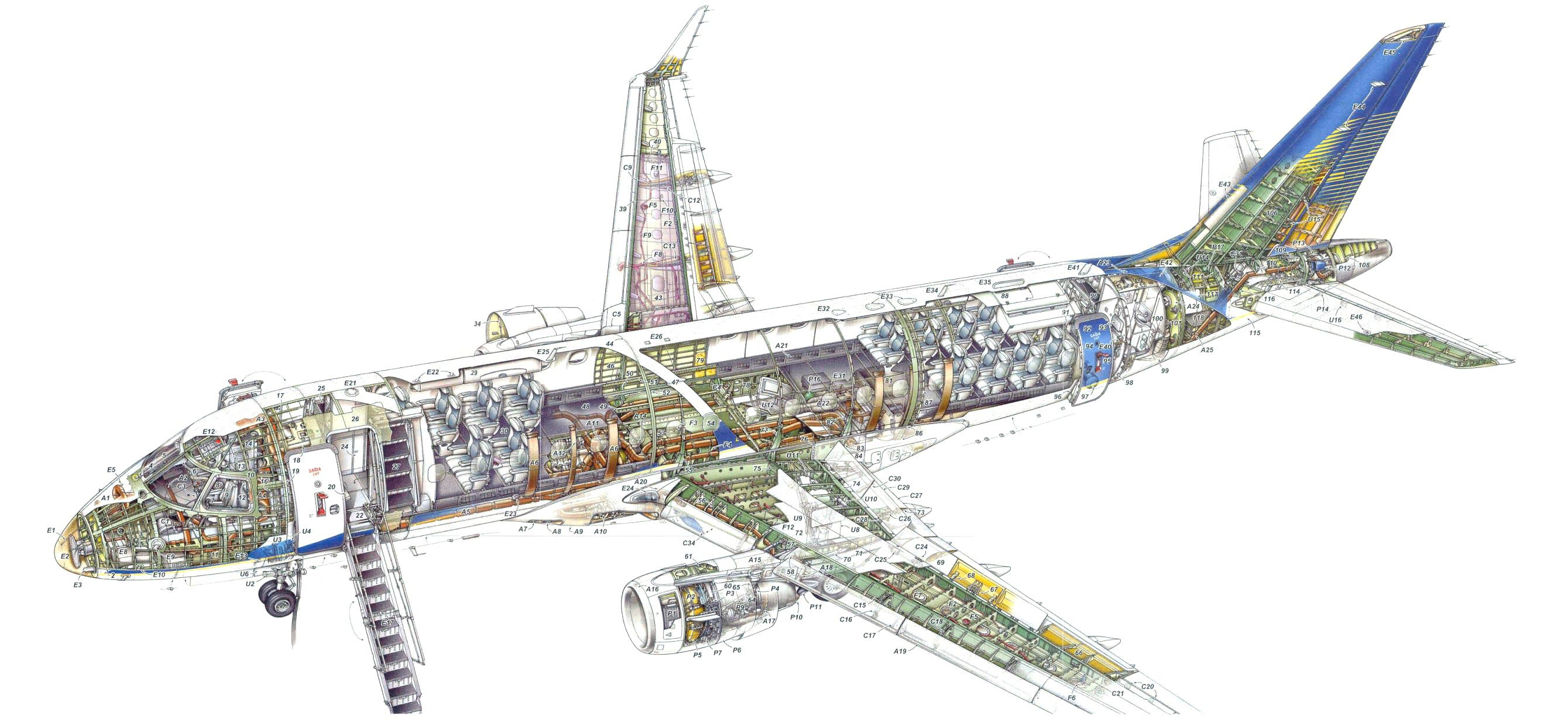 Bmw I Series >> Embraer 170 Cutaway Drawing in High quality