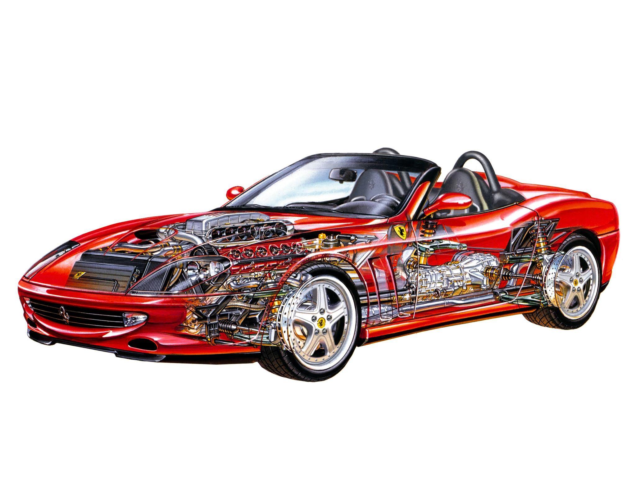 Ferrari 550 cutaway