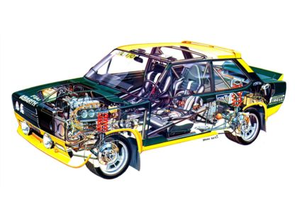 Fiat 131 Rally car