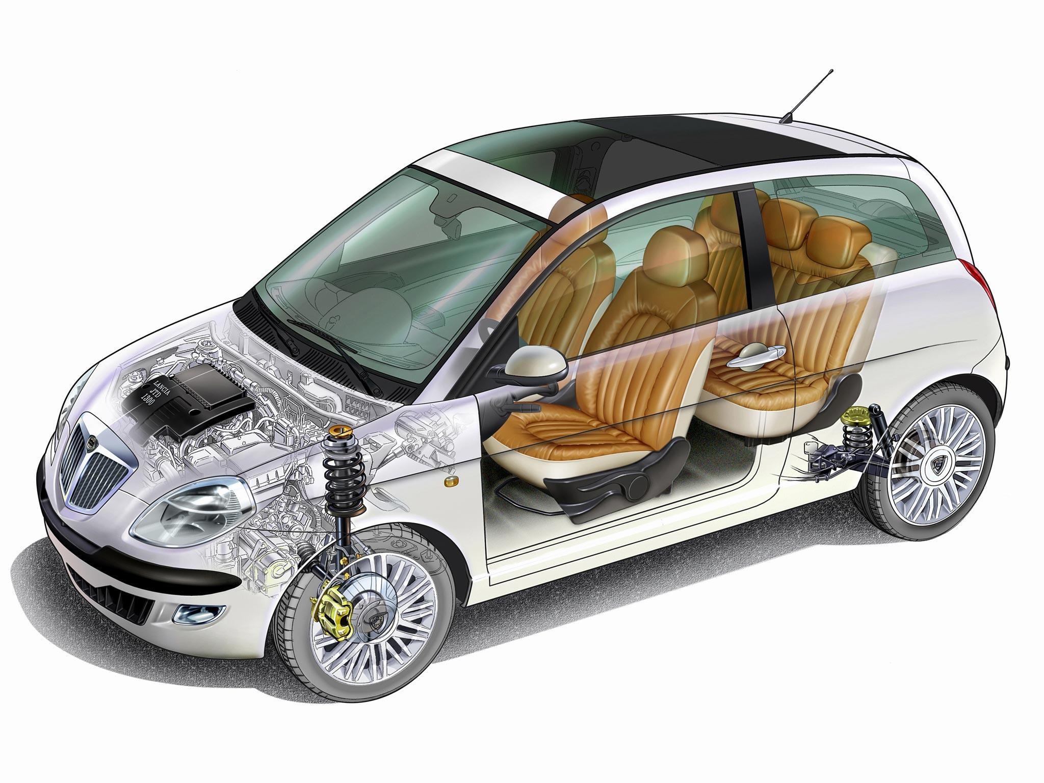 Lancia Ypsilon cutaway