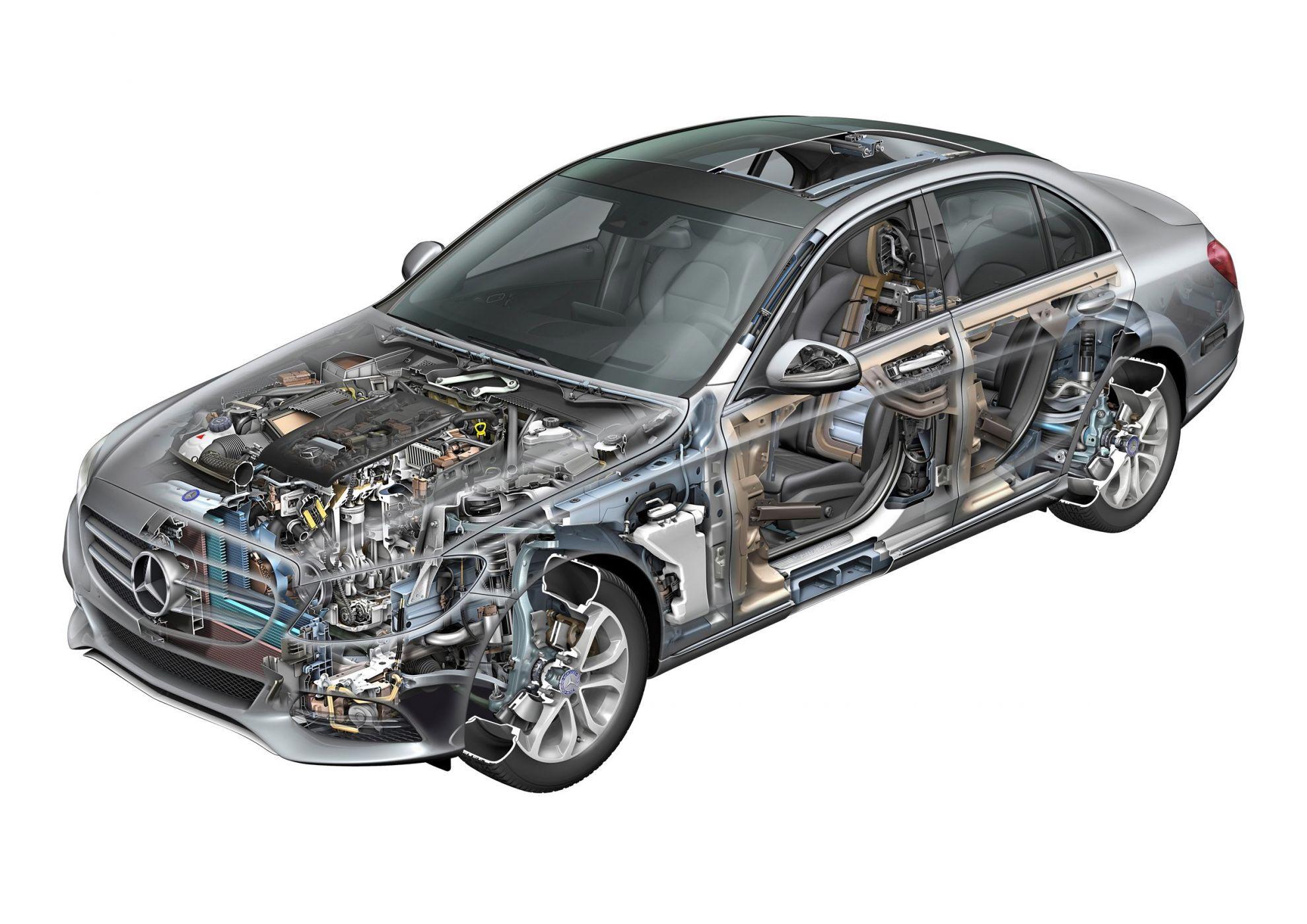 Mercedes-Benz S-Class cutaway