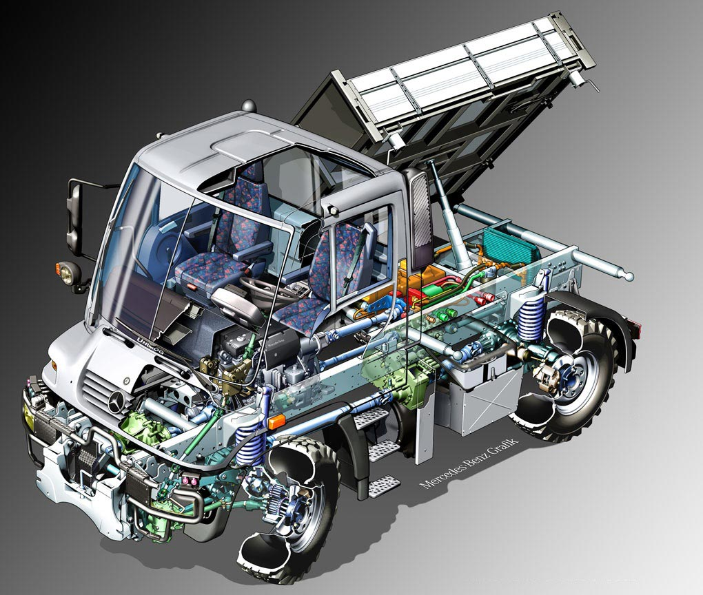 Mercedes-Benz Unimog cutaway