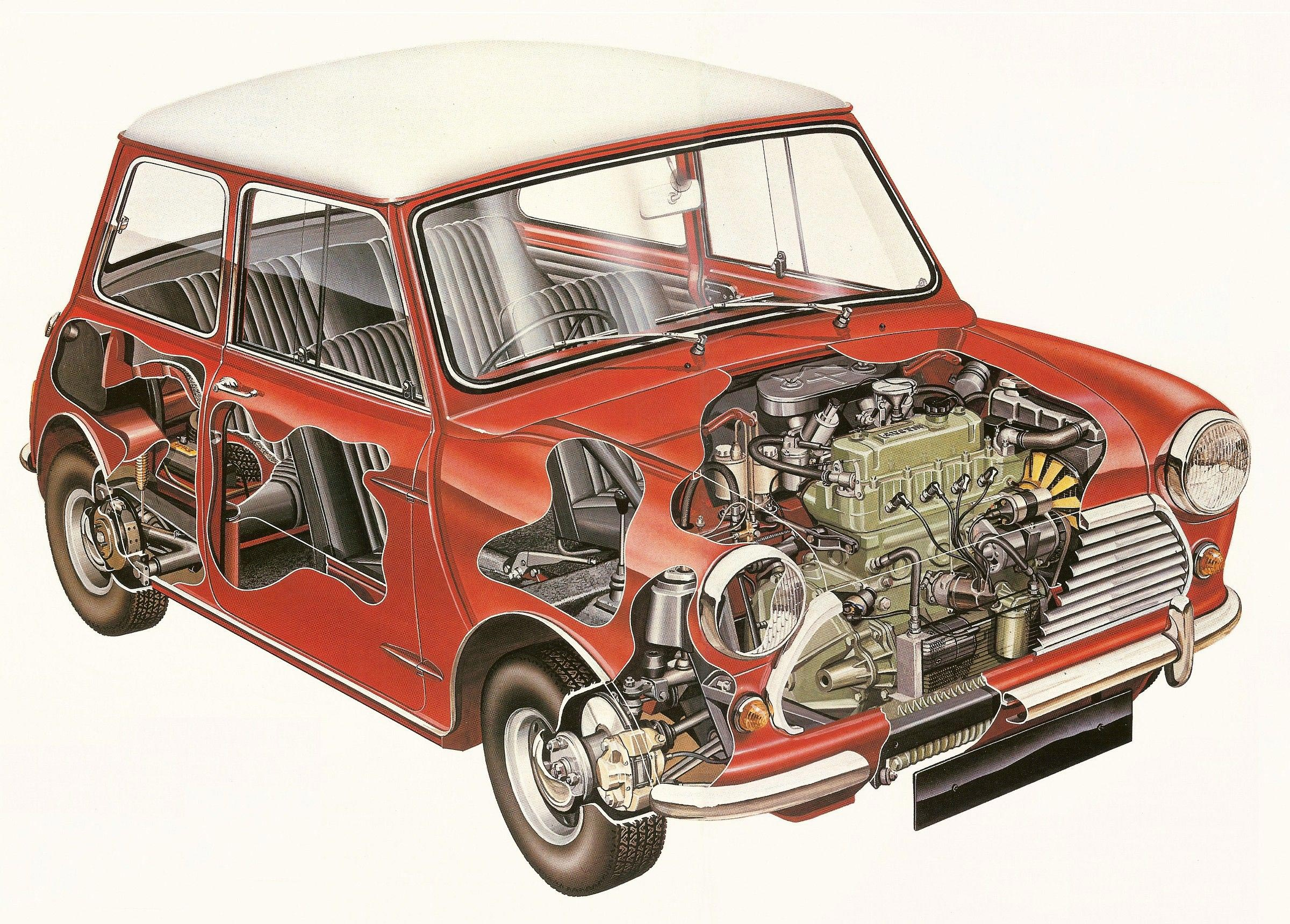 Morris Mini Cooper cutaway