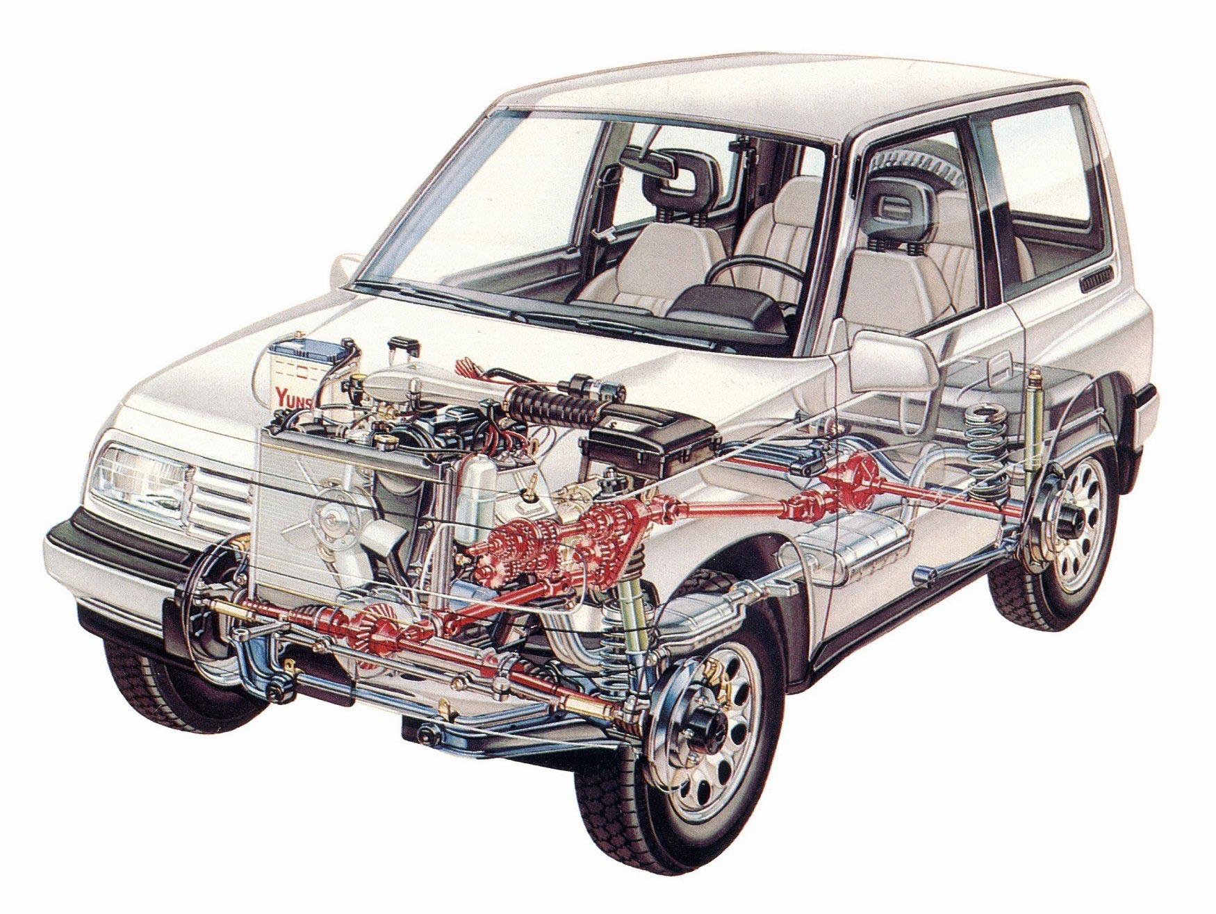 Suzuki Vitara cutaway
