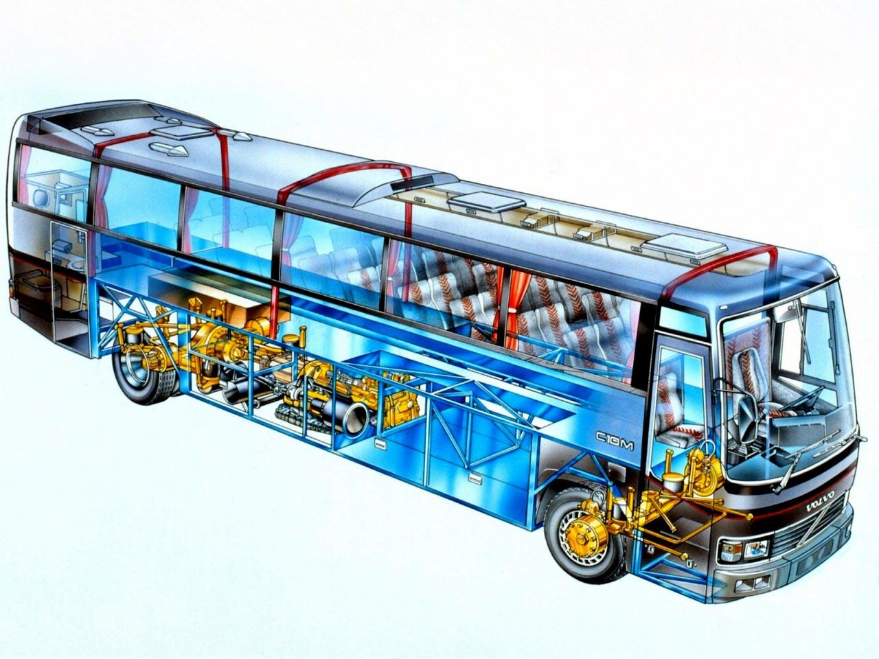 Volvo C10M cutaway