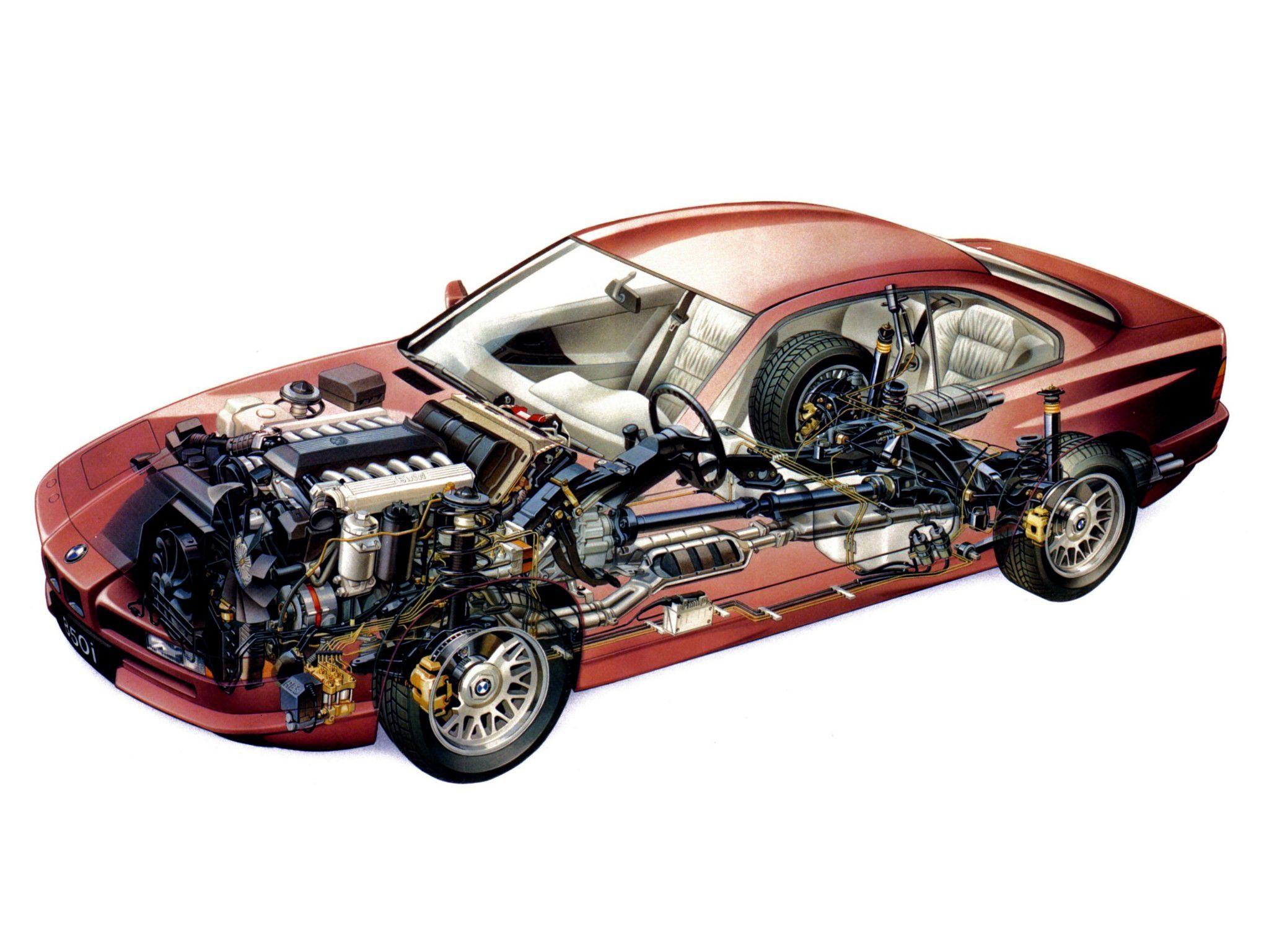 BMW 8-Series E31 cutaway