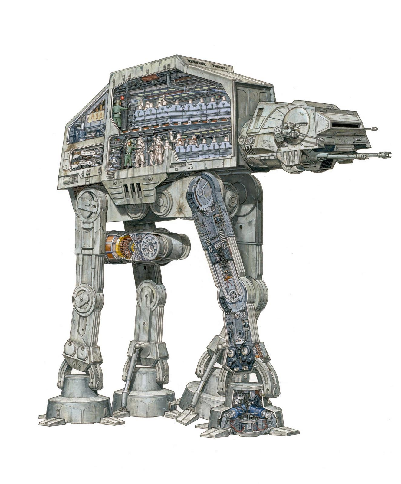 AT-AT Walker cutaway