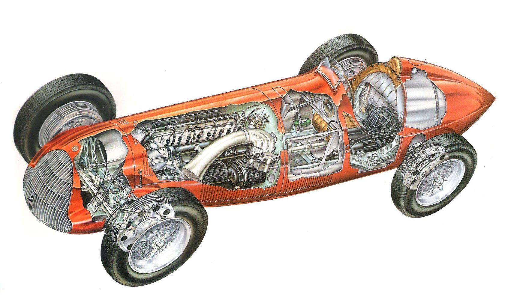 Alfa Romeo 158 cutaway drawing