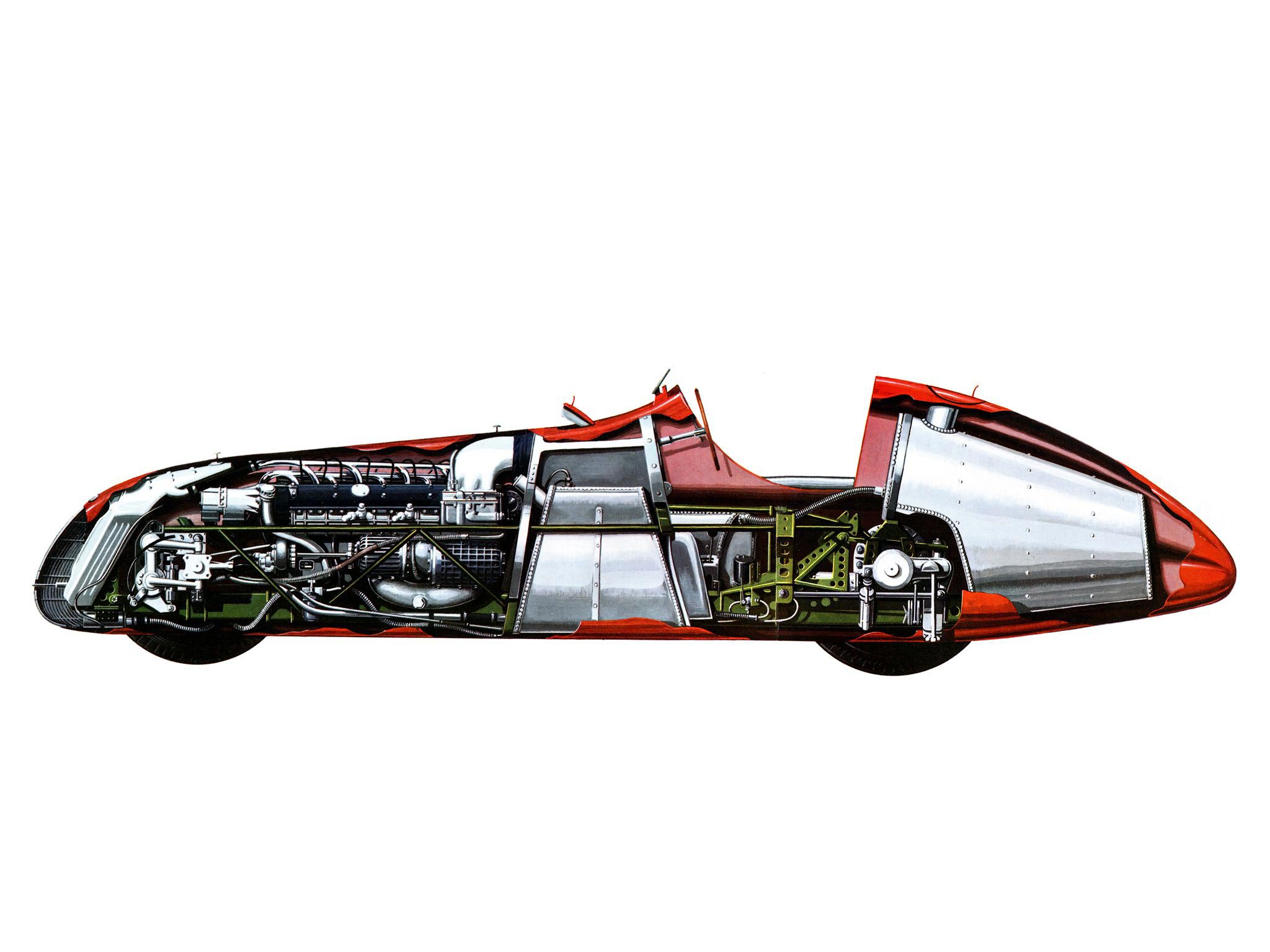 Racing In Car >> Alfa Romeo 158/159 Alfetta Cutaway Drawing in High quality