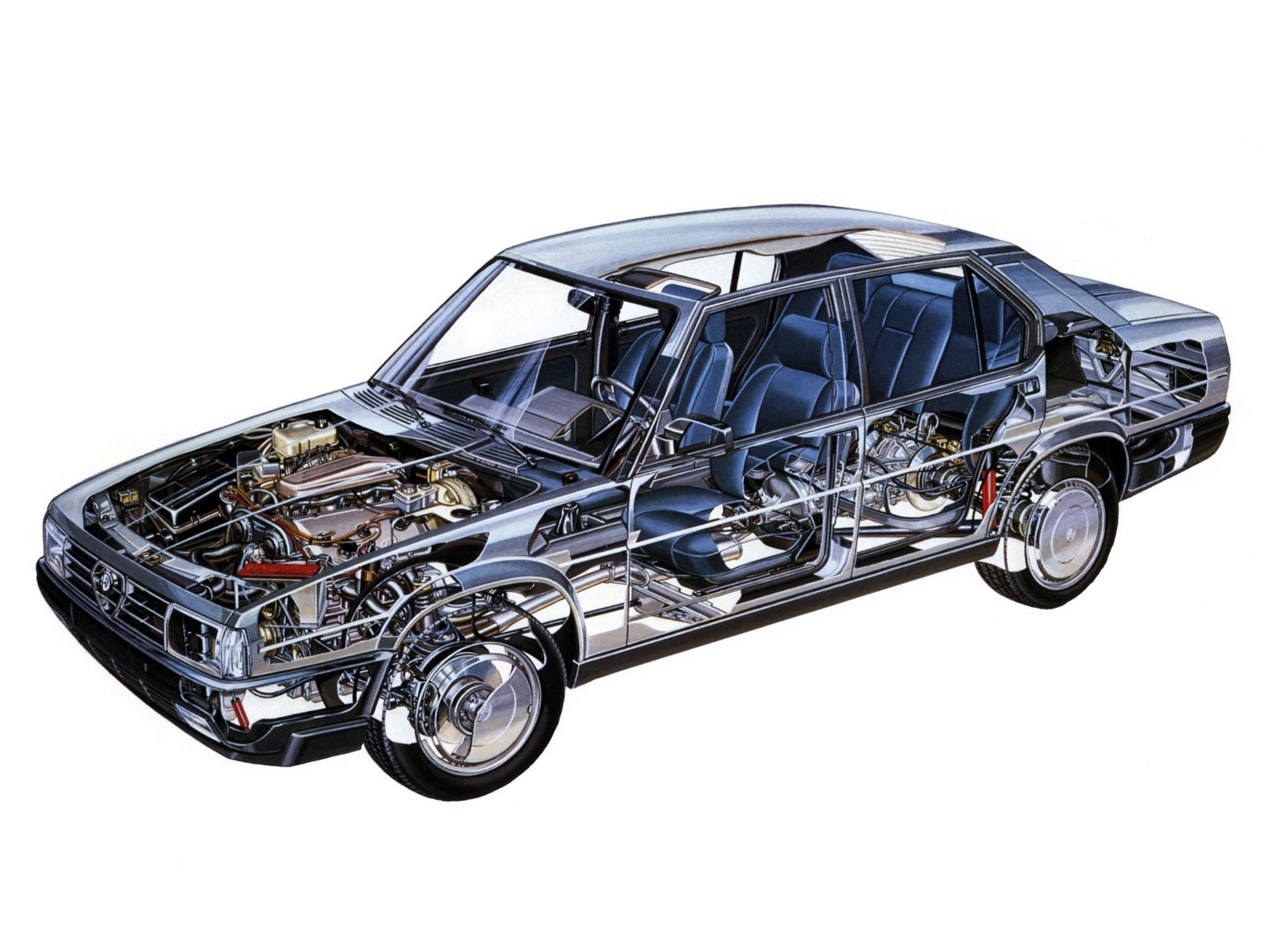 Alfa Romeo 90 cutaway