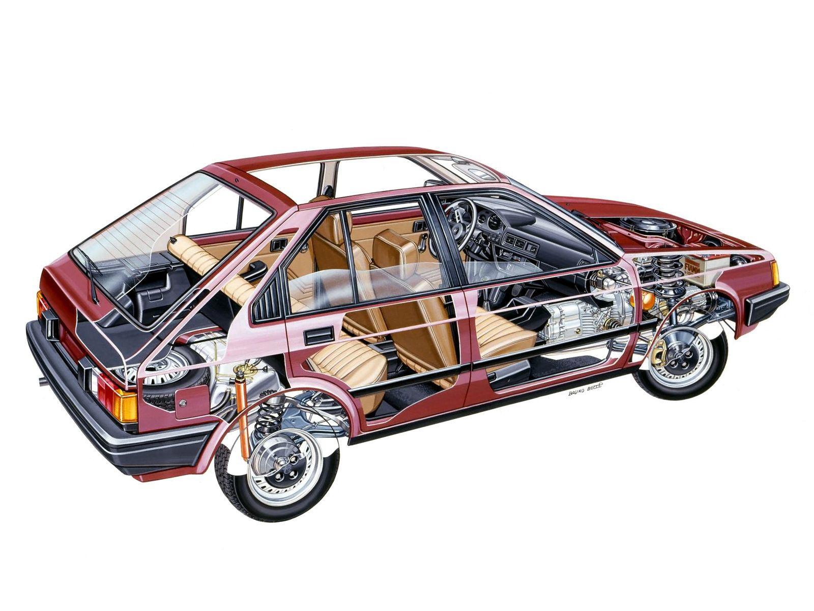 Alfa Romeo Arna cutaway