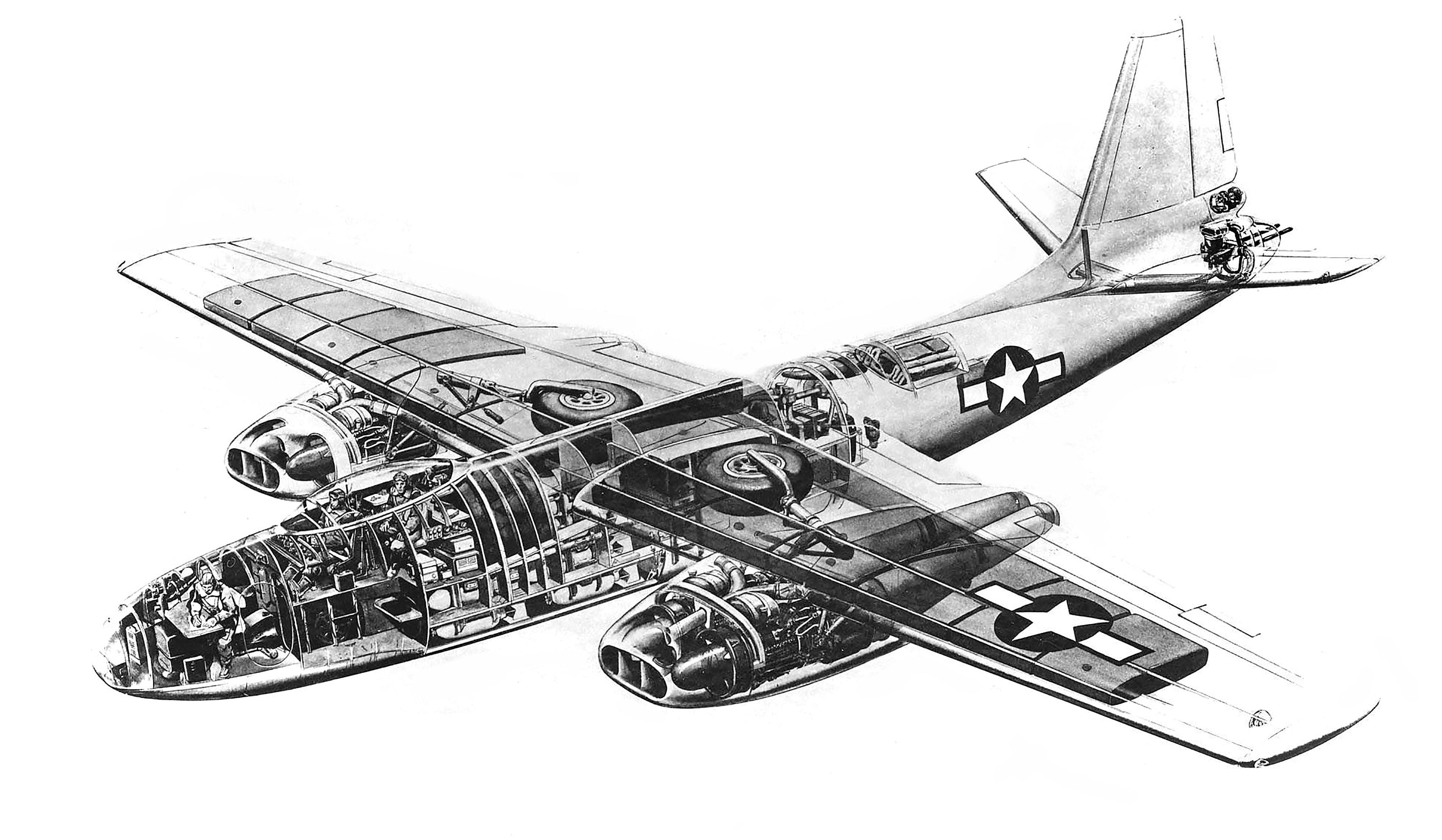 B-45 Tornado cutaway