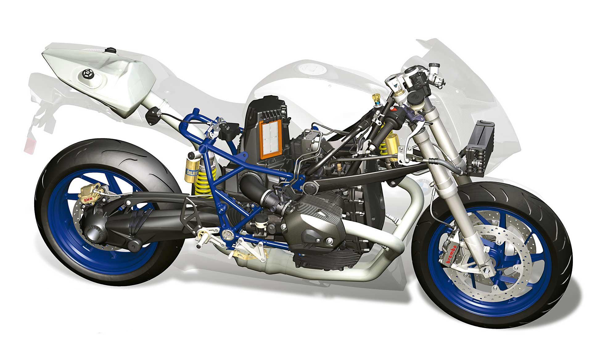 BMW HP2 Sport cutaway