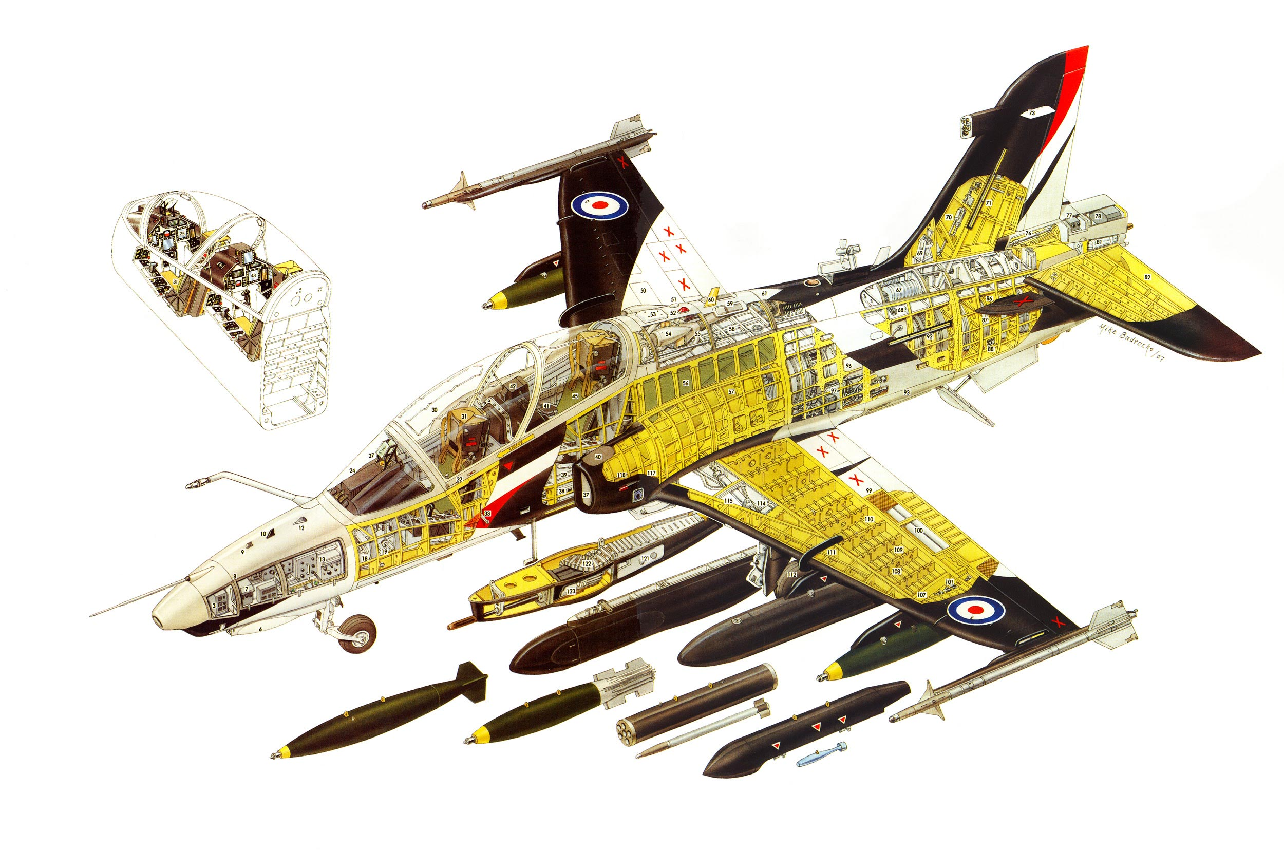 British Aerospace Hawk 200 cutaway