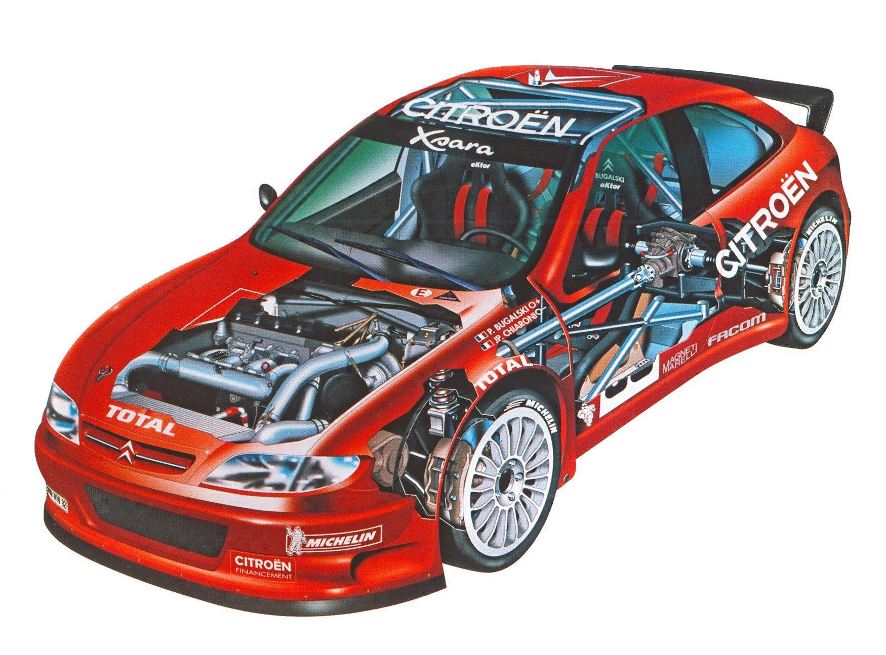 Citroen Xsara WRC cutaway