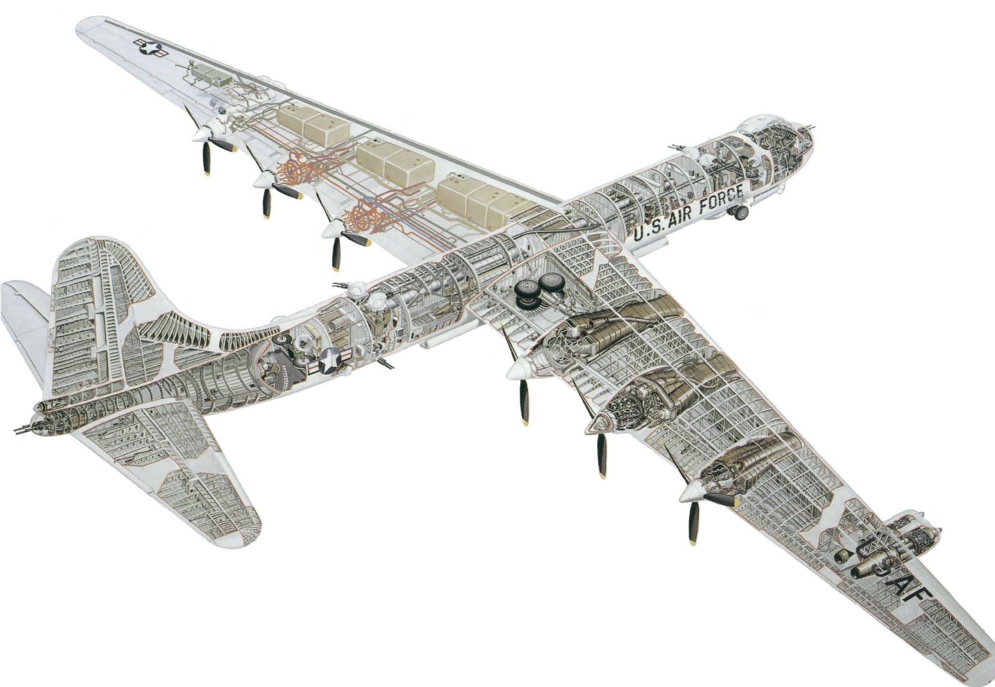 Convair B-36 Peacemaker cutaway
