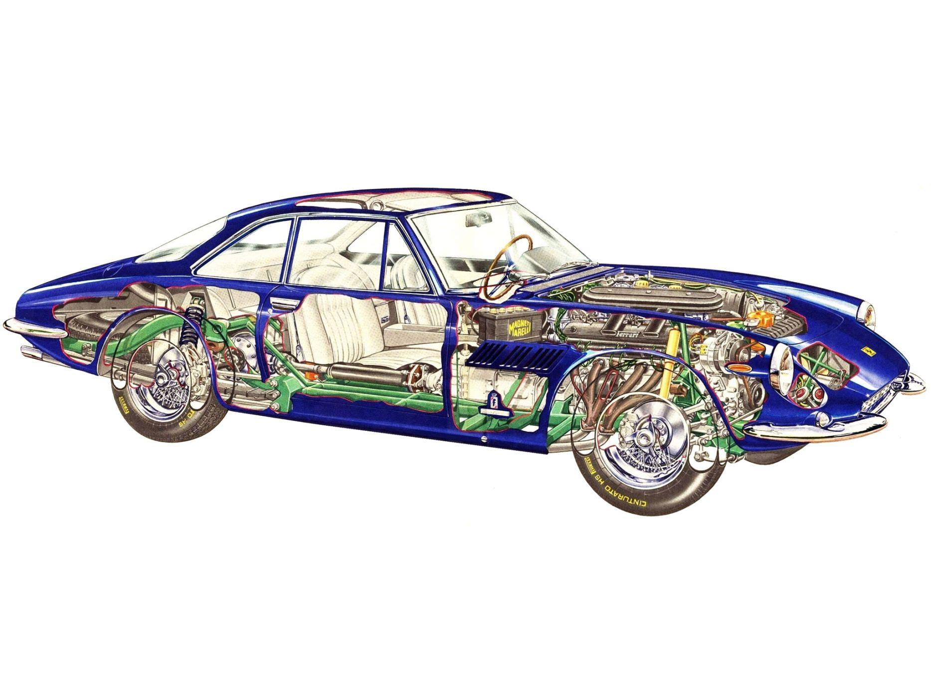 Ferrari 500 Superfast cutaway