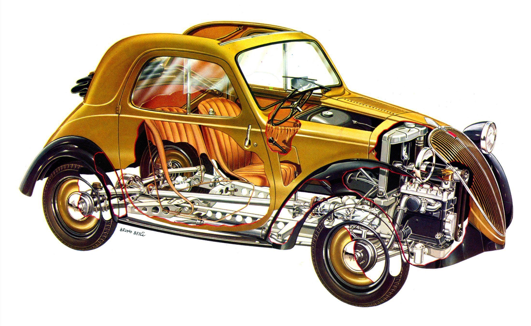 Fiat 500 Topolino cutaway