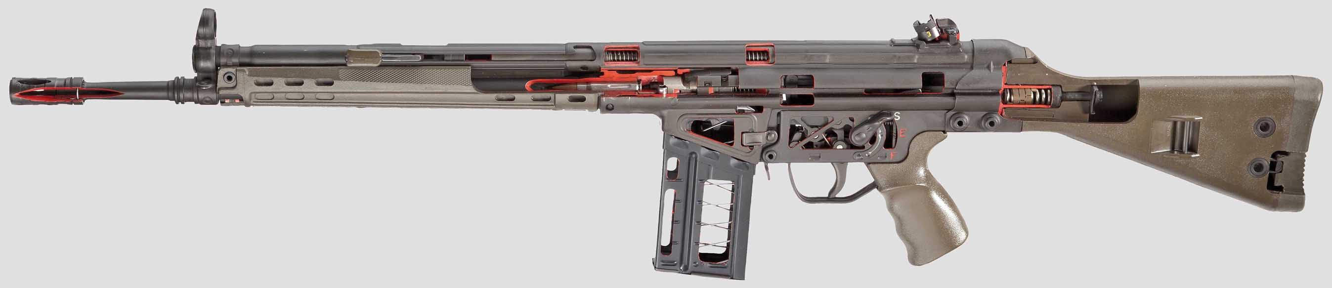 Heckler & Koch G3 cutaway