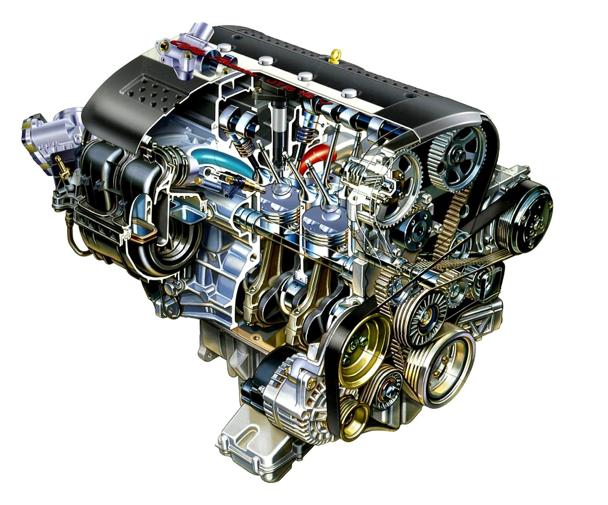 JTS engine cutaway