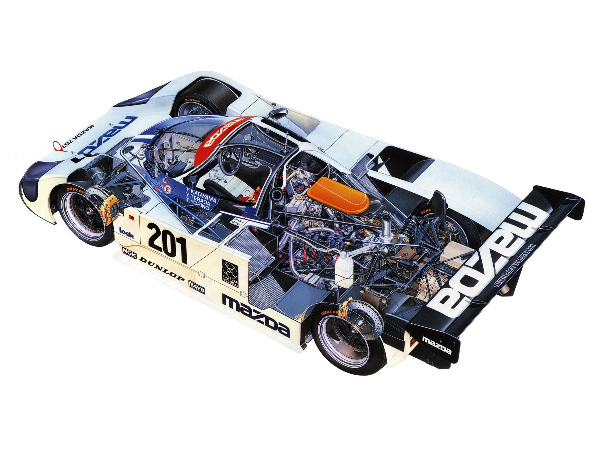 Mazda 767 cutaway