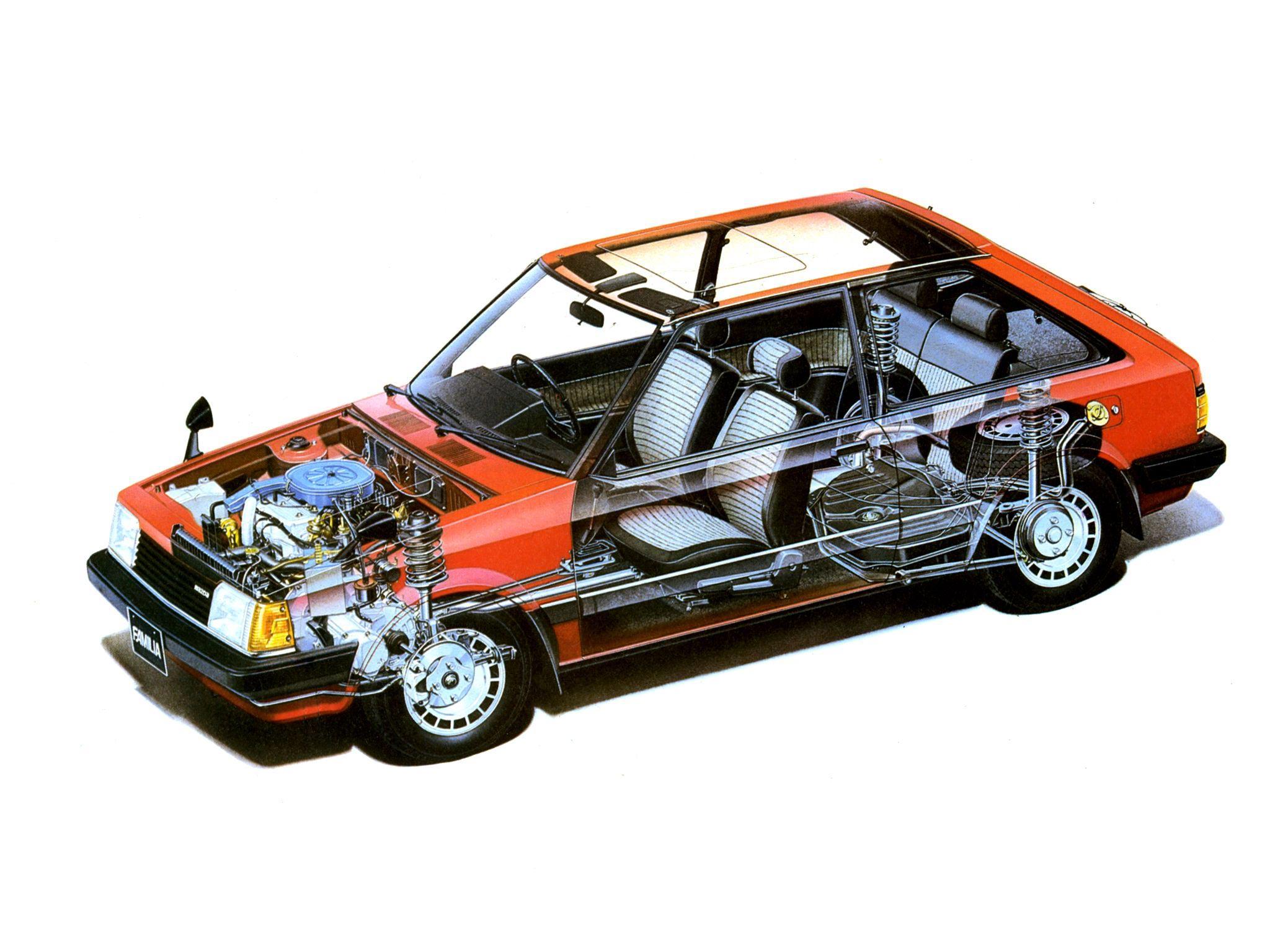 Mazda Familia cutaway