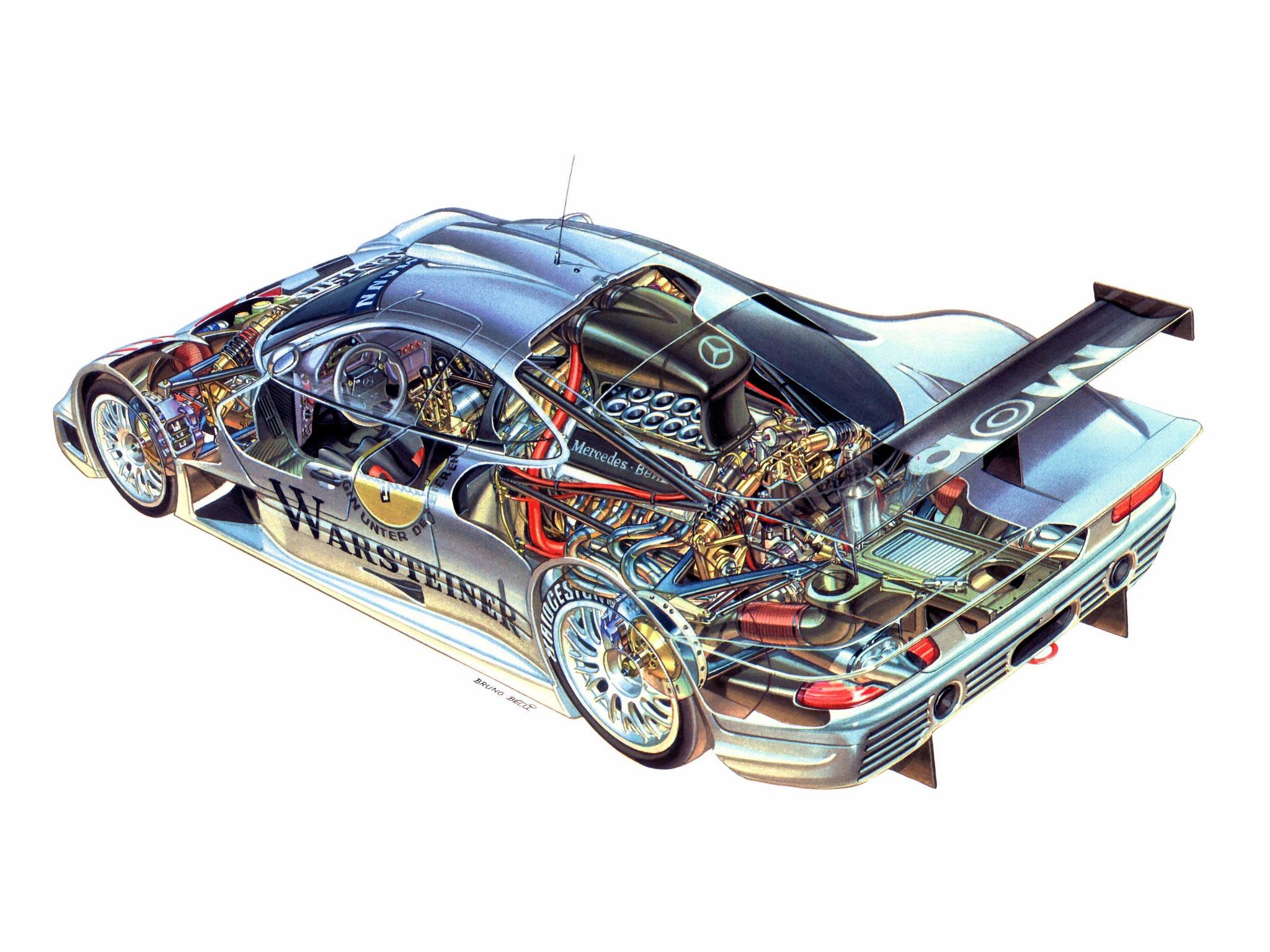 Mercedes-Benz CLK GTR cutaway