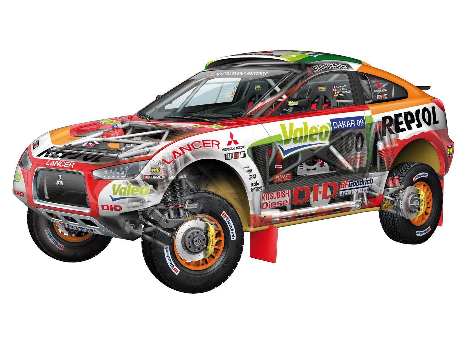 Mitsubishi Racing Lancer cutaway