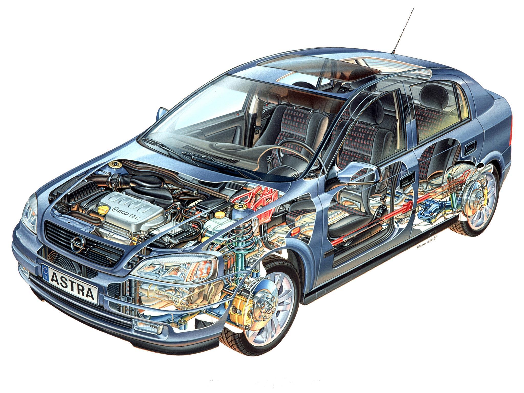 Opel Astra G cutaway