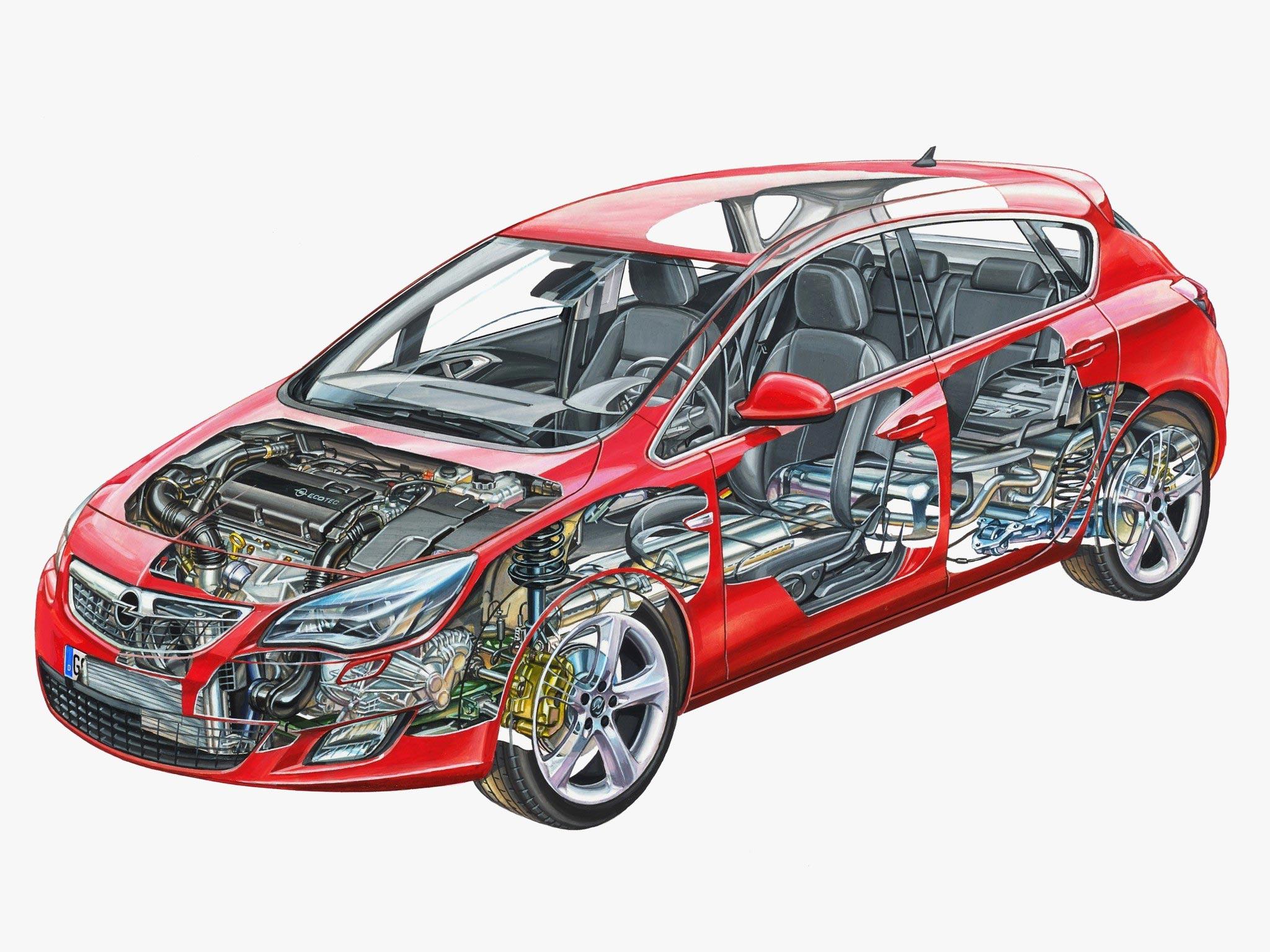 Opel Astra cutaway