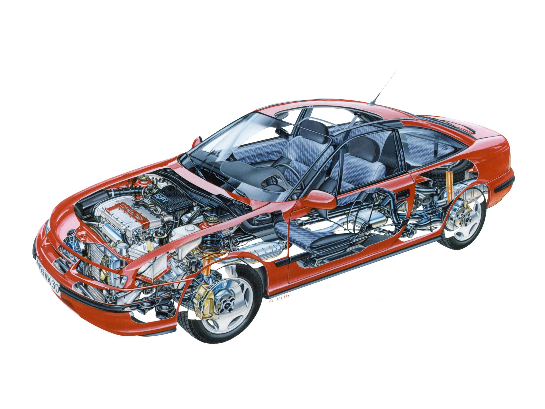 Opel Calibra cutaway