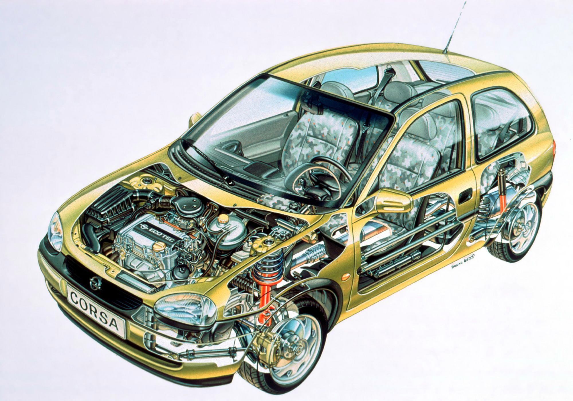 Opel Corsa cutaway