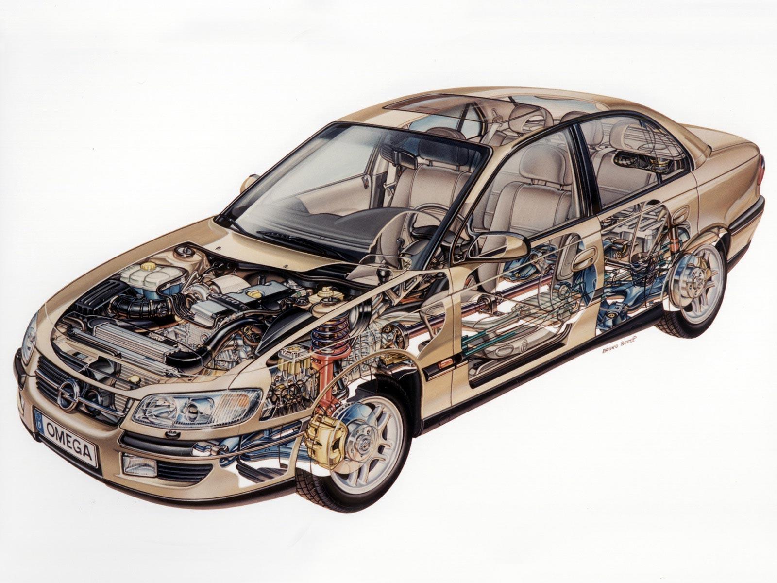 Opel Omega cutaway
