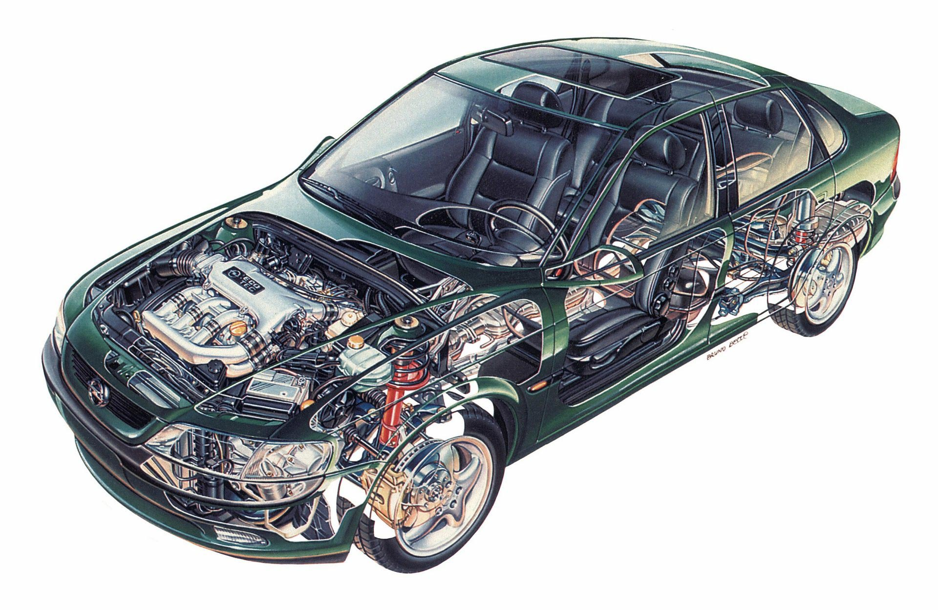 Opel Vectra cutaway