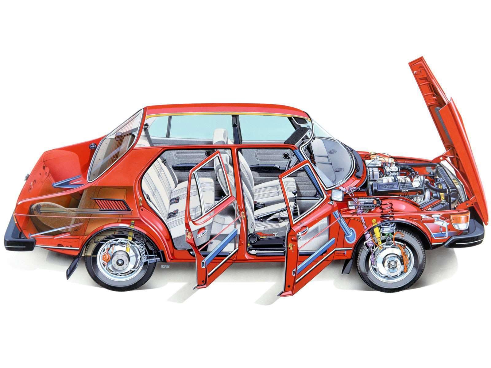 Saab 99 cutaway