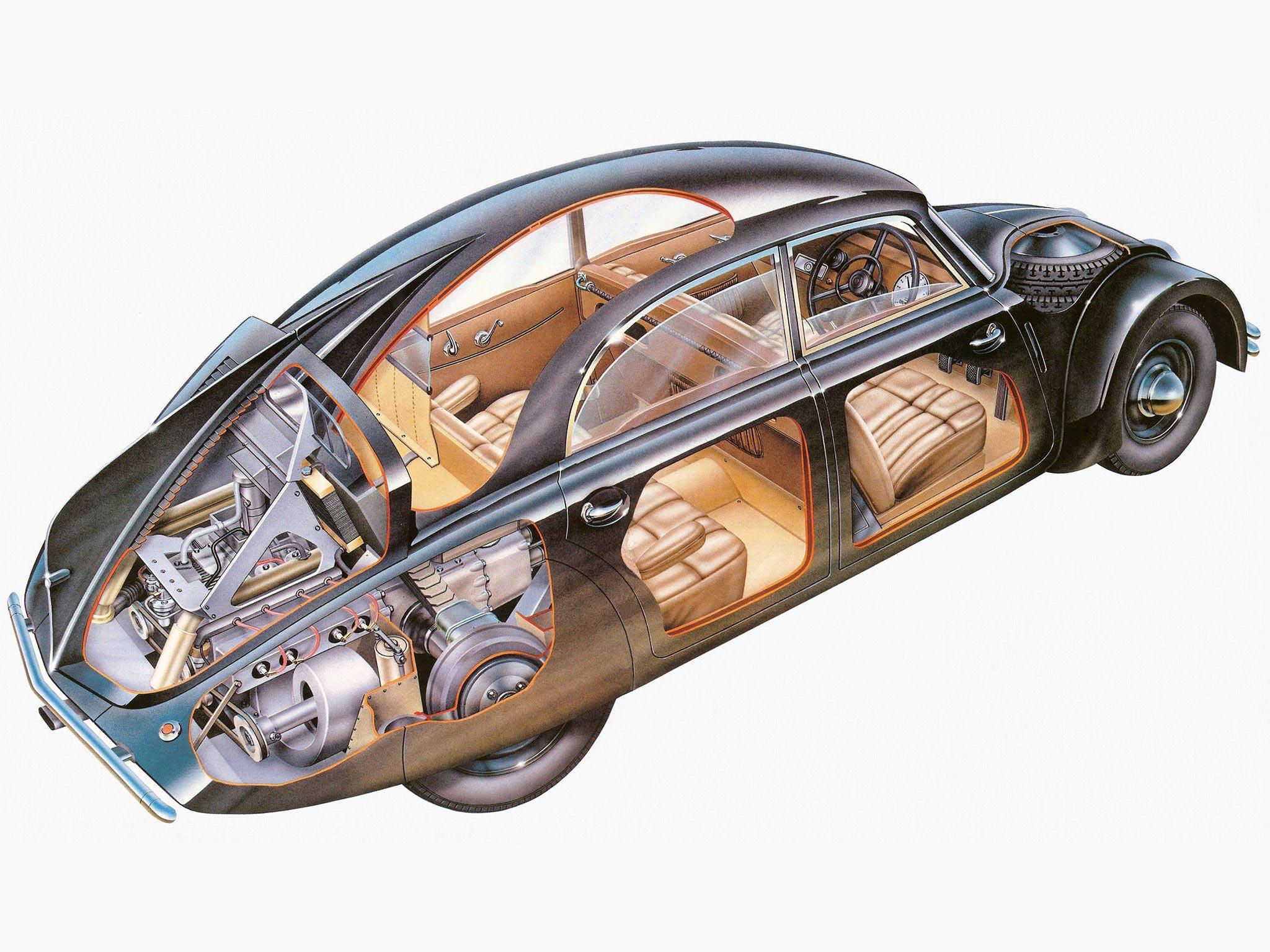 Tatra 77 cutaway