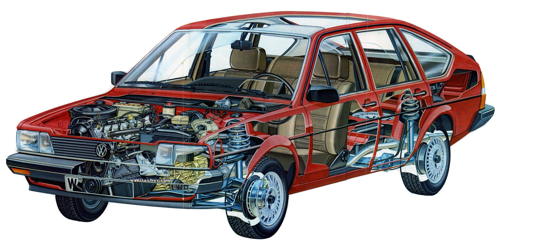 Volkswagen Passat cutaway