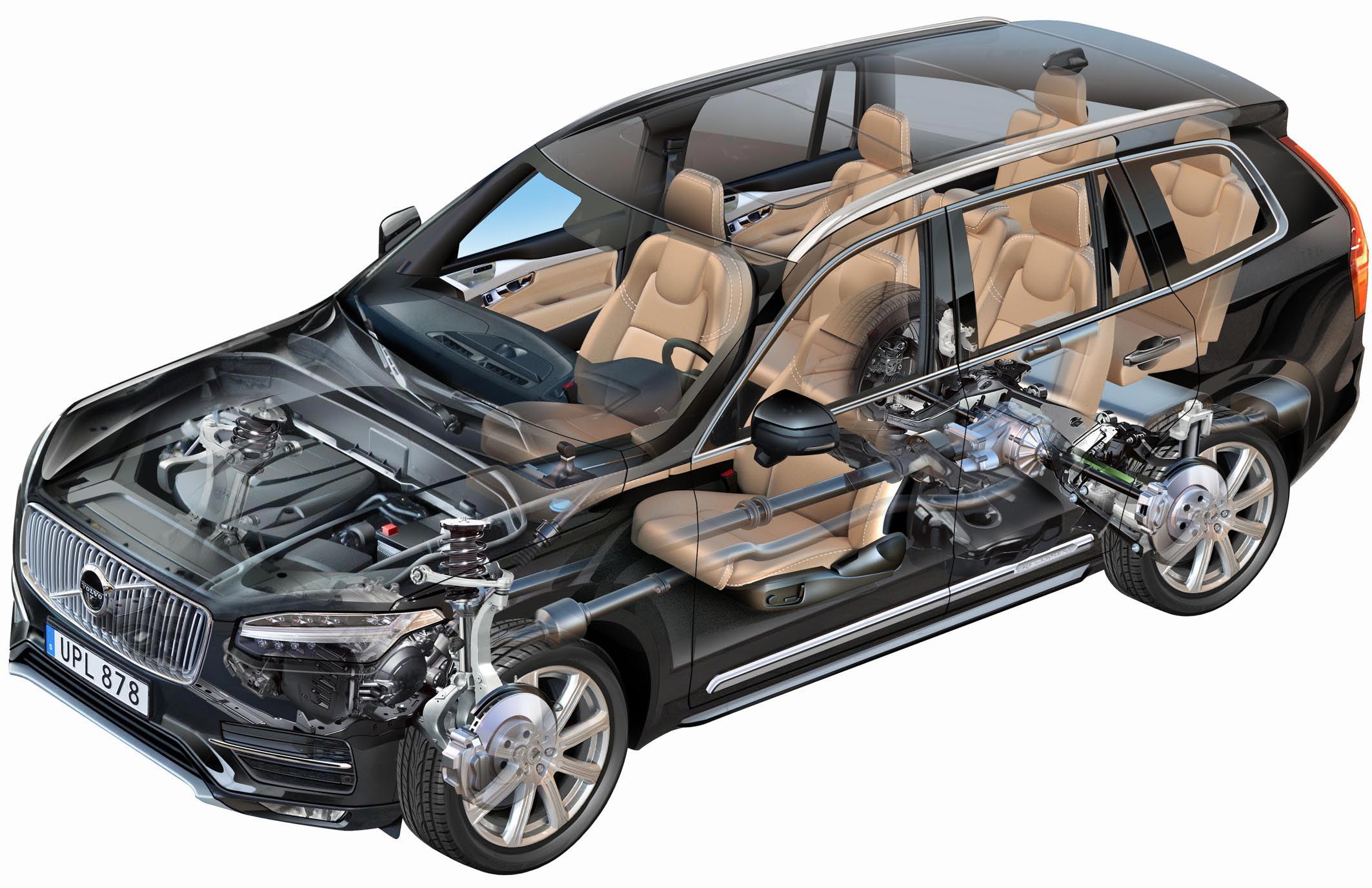 Volvo XC90 cutaway