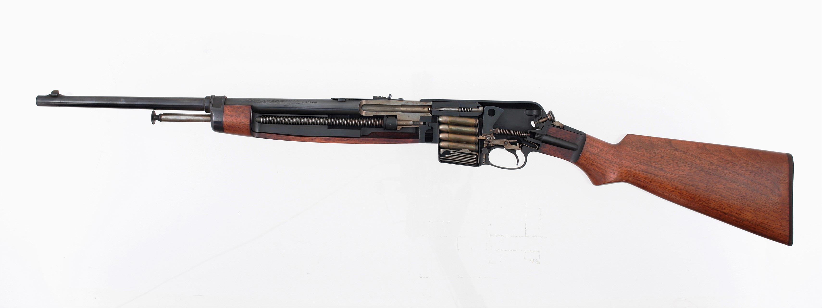 Winchester Model 1910 cutaway